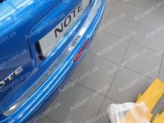 Накладка на бампер Nissan Note 1 (2005-2013) NataNiko ровная