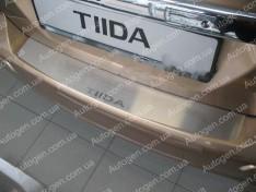 Накладка на бампер Nissan Tiida 1 HB (2004-2011) NataNiko ровная