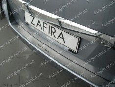 Накладка на бампер Opel Zafira B (2005-2011) NataNiko ровная