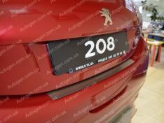 Накладка на бампер Peugeot 208 (2012->) NataNiko ровная