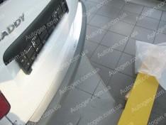 Накладка на бампер Volkswagen Caddy 3 (2004->) NataNiko ровная