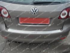 Накладка на бампер Volkswagen Golf Plus (2005->) NataNiko ровная
