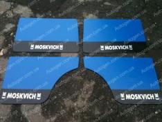 Обшивка дверей карты Москвич 412 синяя