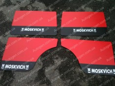 Обшивка дверей карты Москвич 412 красная