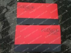 Обшивка дверей карты ВАЗ Нива 2121, 21213 тайга красная
