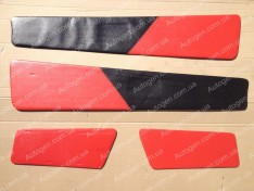 Обшивка дверей карты ВАЗ 2108 красная
