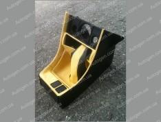 Консоль под магнитофон ВАЗ 2107 желтая