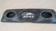 Полка акустическая ВАЗ 21099, ВАЗ 2115 с карманом черная