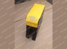 Подлокотник бар ВАЗ 2104, ВАЗ 2105, ВАЗ 2107 желтый с вышивкой