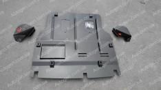 """Защита двигателя Volkswagen T5  (2003-2015) (+уши)  """"Titanium"""""""