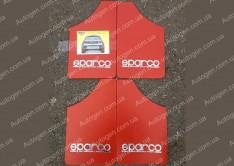 Брызговики универсальные Sparco (4шт) красные