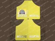 Брызговики универсальные Sparco (4шт) желтые