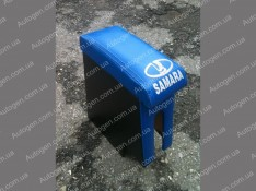 Подлокотник бар ВАЗ 2108, ВАЗ 2109, ВАЗ 21099 синий с вышивкой
