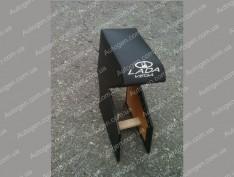 Подлокотник бар ВАЗ 2110, ВАЗ 2111, ВАЗ 2112 черный с вышивкой