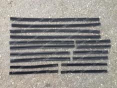 Уплотнители боковых опускных стекол (бархотка верхняя) ВАЗ 2101, ВАЗ 2102, ВАЗ 2103, ВАЗ 2106