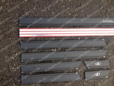 Молдинги кузова резиновые ВАЗ 2109, ВАЗ 21099 полуширокие
