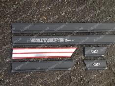 Молдинги кузова резиновые ВАЗ 2108 полуширокие