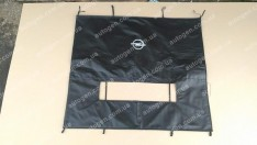 Утеплитель решетки радиатора и бампера Opel Vivaro (2001-2014) (большой) мягкий черный