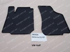 Коврики салона Volkswagen Golf 4 (1997-2003) (передние 2шт) (Politera)
