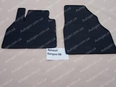 Коврики салона Renault Kangoo 2 (2008->) (передние 2шт) (Politera)