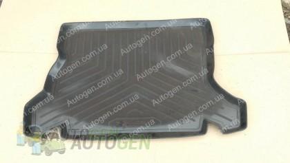 Коврик в багажник Opel Kadett HB (1984-1991) (резино-пластик) (Nor-Plast)