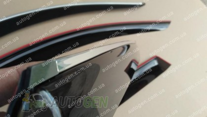 CT-VL Tuning - Хром Ветровики Audi Q7 (2005-2015) (с хром молдингом) CT