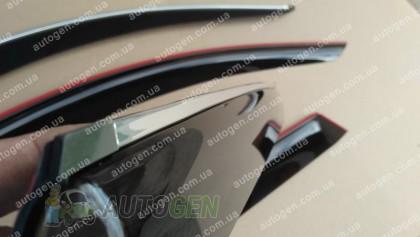 CT-VL Tuning - Хром Ветровики Hyundai Sonata 6 (YF) (2010-2015) (с хром молдингом) CT