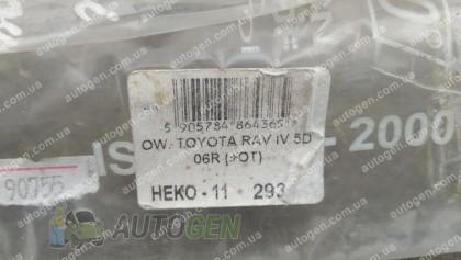 Heko Ветровики Toyota Rav4 (обычная база) (2006-2013) (вставные) Брак (Heko)