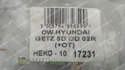 Heko Ветровики Hyundai Getz (5дв) (2002-2011) (вставные) (Heko)