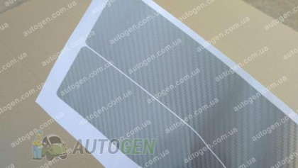 NataNiko пленки Наклейки на пороги Mazda 6 (2010-2012) серый карбон NataNiko