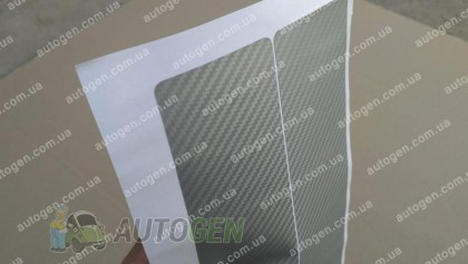 NataNiko пленки Наклейки на пороги Mazda CX-9 (2017->) серый карбон NataNiko