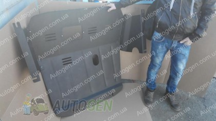 """Titanium Защита двигателя Renault Master 2 (1998-2010) (с ушами)  """"Titanium"""""""