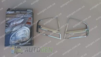 Накладки на фонари Kia Cerato (2004-2008) KR Хром
