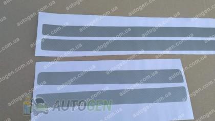 NataNiko пленки на пороги Наклейки на пороги Toyota Land Cruiser 200 (2015->) серый карбон NataNiko