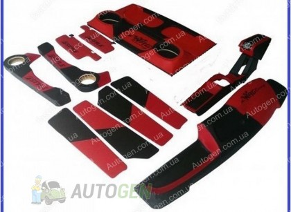 Тюнинг салона ВАЗ 2108, 2109, 21099 Антикризисная цена (цвет красный)