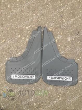 Mud pl (с логотипом) Брызговики Москвич 412, Москвич 2140, Москвич 2141 ( 2шт.) (с надписью)