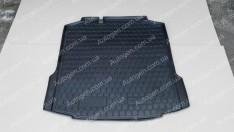 Коврик в багажник Skoda Rapid LB (лифтбек) (2012->) (Avto-Gumm полимер-пластик)
