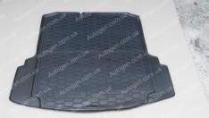 Коврик в багажник Volkswagen Jetta 6 SD (2010-2019) (MID) (с ушами) (Avto-Gumm полимер-пластик)