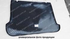 Коврик в багажник Hyundai Santa Fe (7 мест) (2013-2018) (резино-пластик) (Nor-Plast)