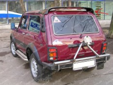 Спойлер багажника ВАЗ Нива 2121, 21213 тайга (Design CP) (стекловолокно)