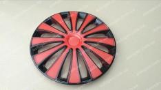 Колпаки на колеса GMK Red Black R13 3D carbon (STR)