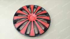 Колпаки на колеса GMK Red Black R15 3D carbon (STR)