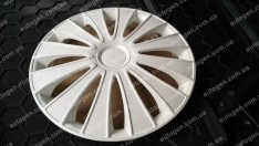 Колпаки на колеса GMK White R13 3D carbon (STR)
