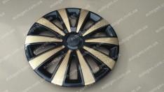 Колпаки на колеса Karat Super Black GOLD R13 3D carbon (STR)