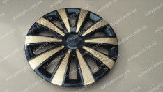 Колпаки на колеса Karat Super Black GOLD R14 3D carbon (STR)