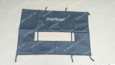 Утеплитель решетки радиатора и бампера Peugeot Partner (2002-2008) (большой) мягкий черный