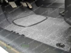 Коврики салона Kia Carens (АКП) (5 мест) (2012->) (текстильные Серые) Vorsan
