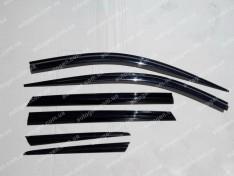 Ветровики Hyundai Santa Fe (2012-2018) (6шт) KR