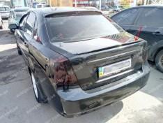 Спойлер багажника Chevrolet Lacetti SD (2004-2013) (Design Lip nizkiy) (стекловолокно)