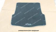 Коврик в багажник Skoda Rapid LB (лифтбек) (2012->) (текстильный Серый) Vorsan